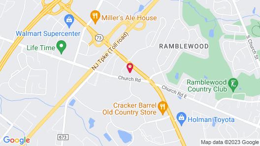 Rodeway Inn Mount Laurel Hwy 73 Map
