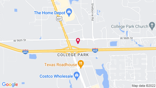 Red Roof Inn Indianapolis North - College Park Map