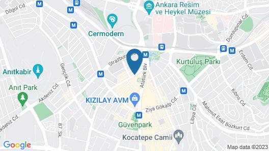 Hotel Abro Necatibey Map