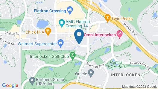 TownePlace Suites by Marriott Boulder Broomfield/Interlocken Map