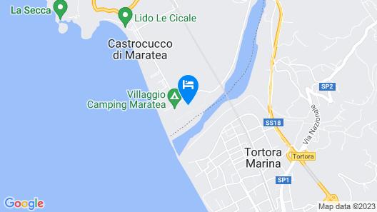 Villaggio Camping Maratea Map