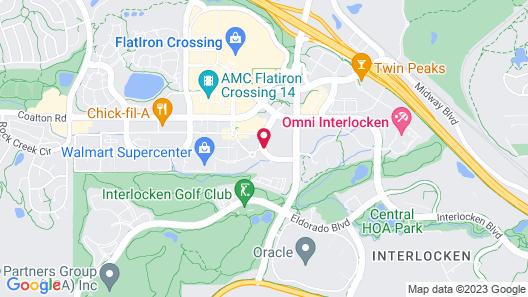 Renaissance Boulder FlatIron Hotel Map