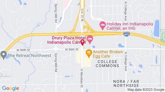 Drury Plaza Hotel Indianapolis Carmel Map