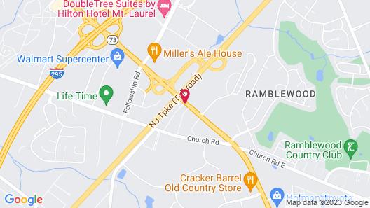 Knights Inn Mount Laurel Map
