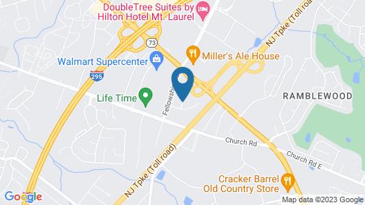 TownePlace Suites by Marriott Mt. Laurel Map