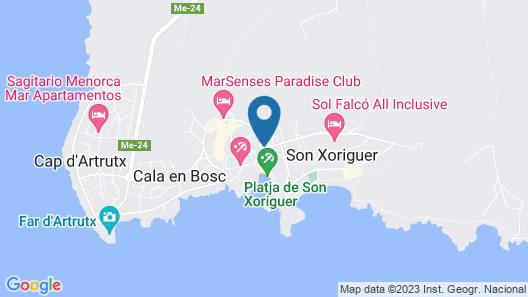 Carema Beach Menorca Map