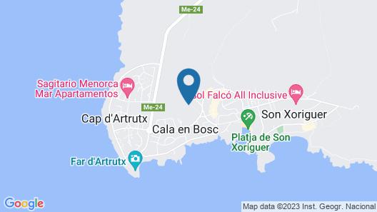 Villa with private pool in Cap d'Artrutx. Map
