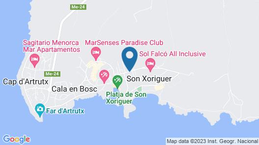 Grupotel Club Menorca Map