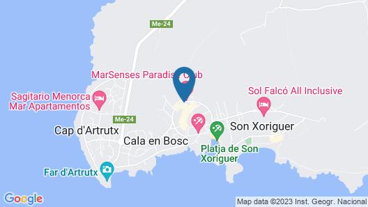 MarSenses Paradise Club Hotel & Spa Map