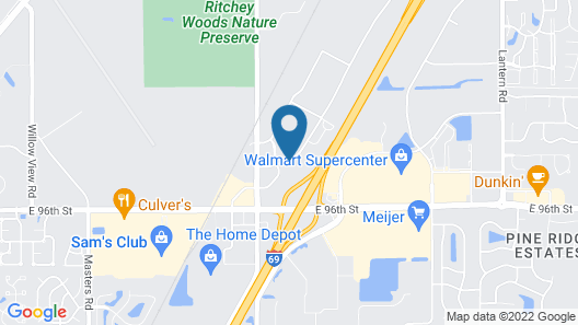 Residence Inn by Marriott Indianapolis Fishers Map