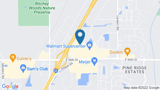 AmericInn by Wyndham Fishers Indianapolis Map