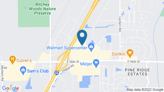 Best Western Fishers/Indianapolis Area Map