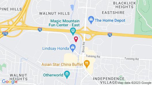 Budget Inn East Columbus Map