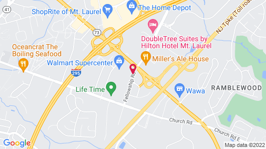 Red Roof Inn Mt Laurel Map