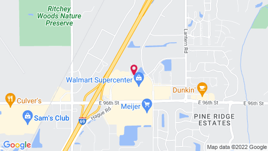 Studio 6 Fishers, IN - Indianapolis Map