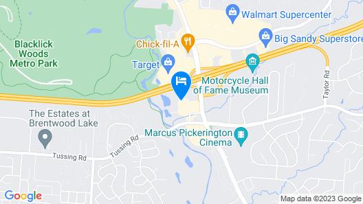 BEST WESTERN Executive Suites - Columbus East Map