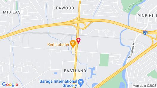Studio 6 Columbus, OH Map