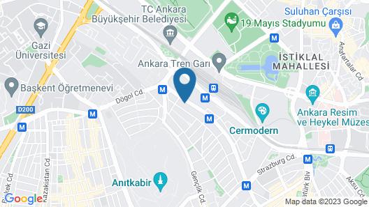 Guvenay Business Hotel Map