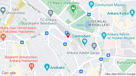 The Ankara Hotel Map