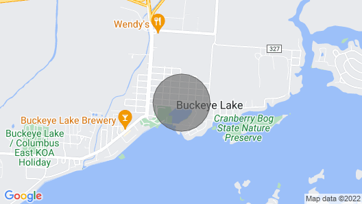 Beautiful 3-Bedroom Cottage at Buckeye Lake Map