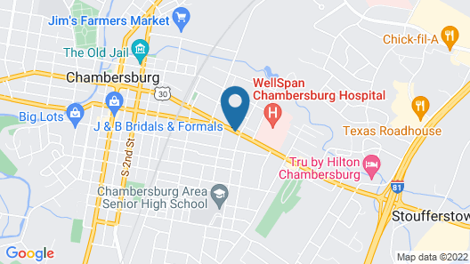 Travelodge by Wyndham Chambersburg Map