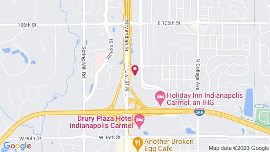 Comfort Inn Indianapolis North - Carmel Map