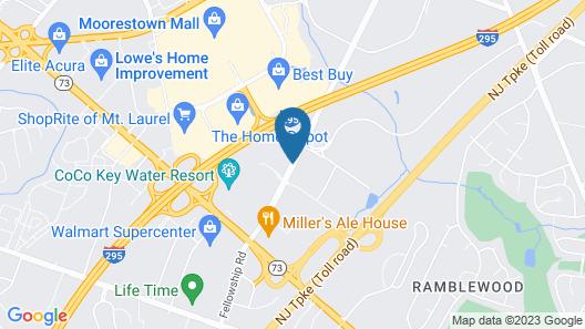 DoubleTree Suites by Hilton Hotel Mt. Laurel Map