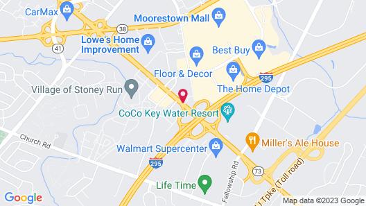 Track & Turf Motel Map
