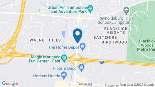 Quality Inn Columbus-East Map
