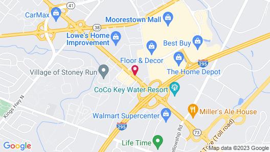 Motel 6 Maple Shade Township, NJ - Philadelphia - Mt Laurel Map