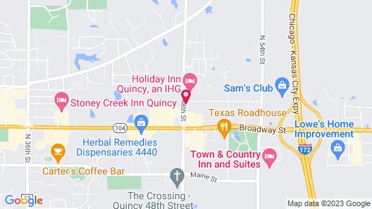 Holiday Inn Quincy East, an IHG Hotel Map