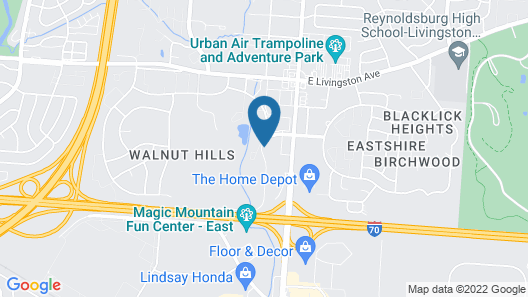Extended Stay America - Columbus - East Map