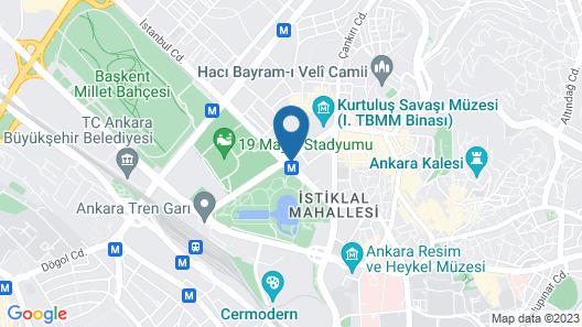 Radisson Blu Hotel, Ankara Map