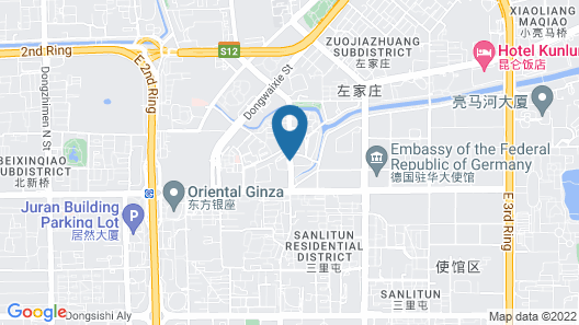Beijing Baifuyi Apartment Dongzhimen Map