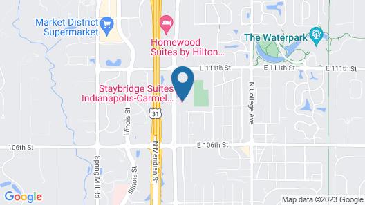Staybridge Suites Indianapolis-Carmel, an IHG Hotel Map