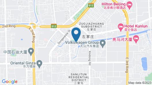 The Bulgari Hotel Beijing Map