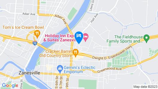 Hampton Inn Zanesville Map