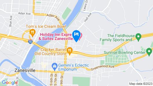 Holiday Inn Express Hotel & Suites Zanesville North, an IHG Hotel Map