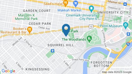 The Gables B&B Philadelphia Map