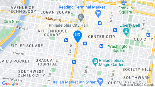DoubleTree by Hilton Philadelphia Center City Map