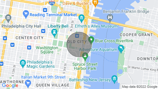 Stylish 1BR In Old City, 8min Walk To Liberty Bell Map