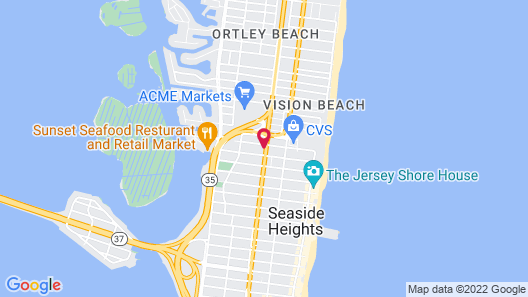 Quality Inn Seaside Heights Jersey Shore Beach Map