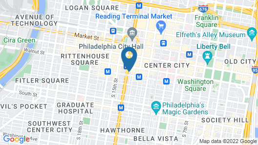 Cambria Hotel Philadelphia Downtown Center City Map