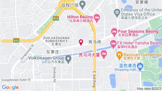 Kempinski Hotel Beijing Lufthansa Center Map