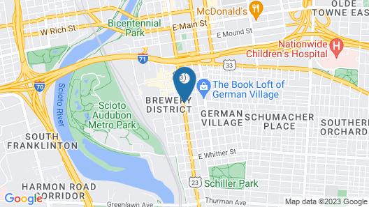 Holiday Inn Express Columbus Downtown, an IHG Hotel Map
