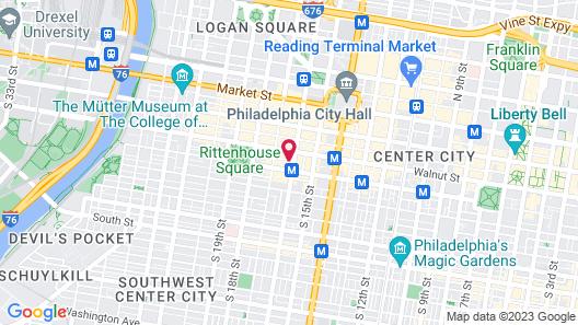 Hyatt Centric Center City Philadelphia Map