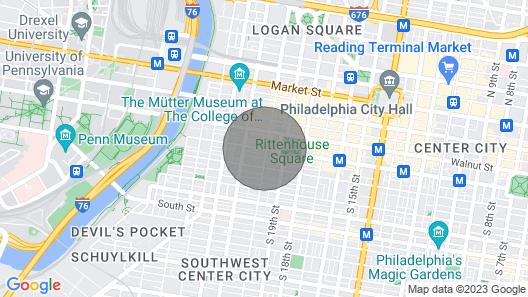 Abode Philadelphia - Rittenhouse Square/Locust St Map