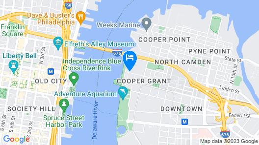 Hilton Garden Inn Camden Waterfront Philadelphia Map