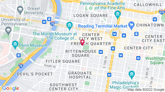 The Rittenhouse Philadelphia Map