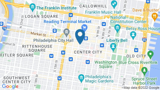 Canopy by Hilton Philadelphia Center City Map